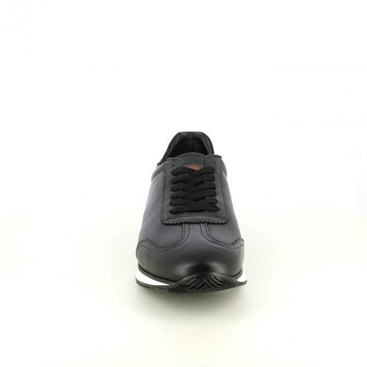 zapatos sport LOBO negros de piel lisa - Querol online