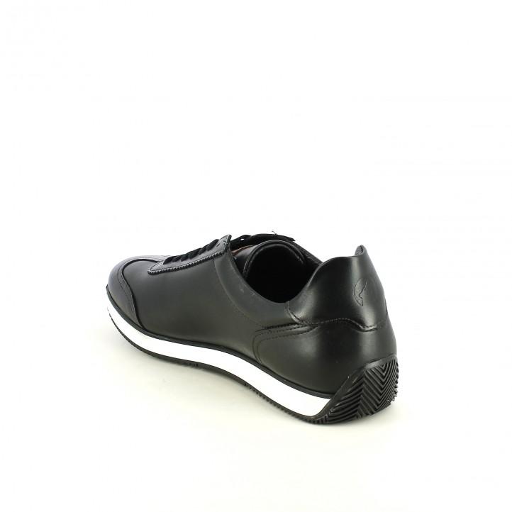 sabates sport LOBO negres de pell llisa - Querol online
