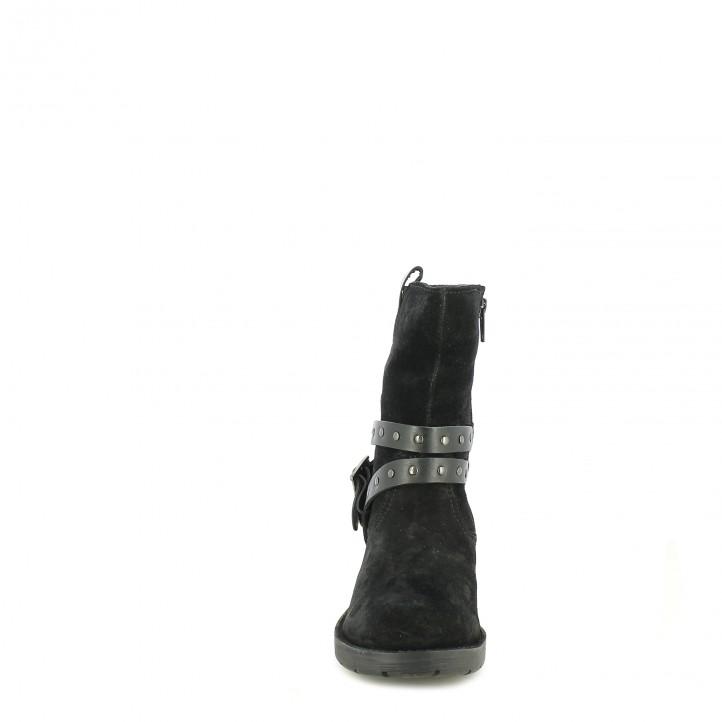 botins Mustang negres de serratge amb cintes - Querol online