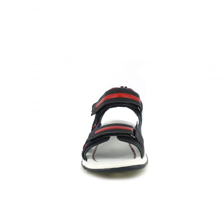 sandalias Levi's Kids azules, rojas y negras - Querol online