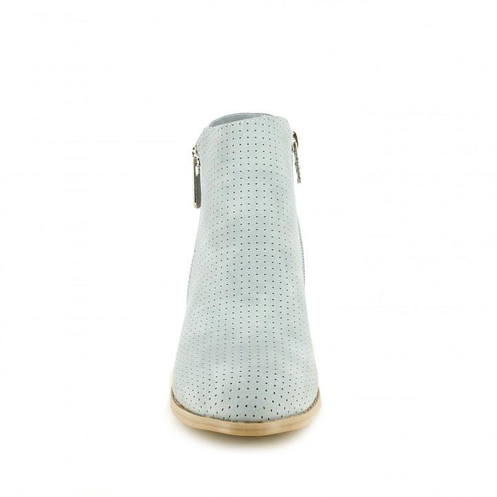 Botins de taló Xti blaus amb doble cremallera - Querol online