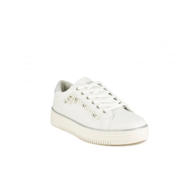 Zapatillas deportivas Xti blancas con detalle de perlas - Querol online