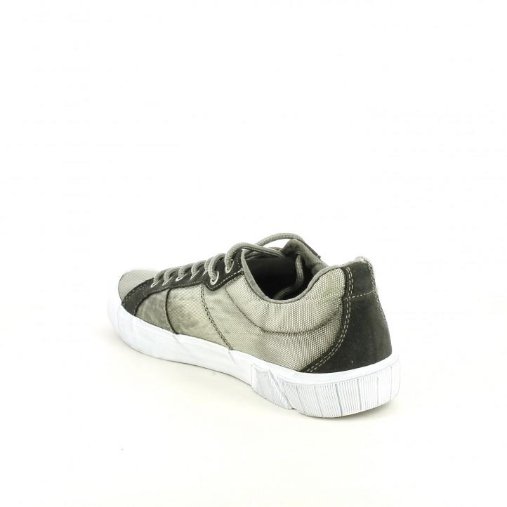 Zapatillas lona Replay tonos verdes con cordones - Querol online
