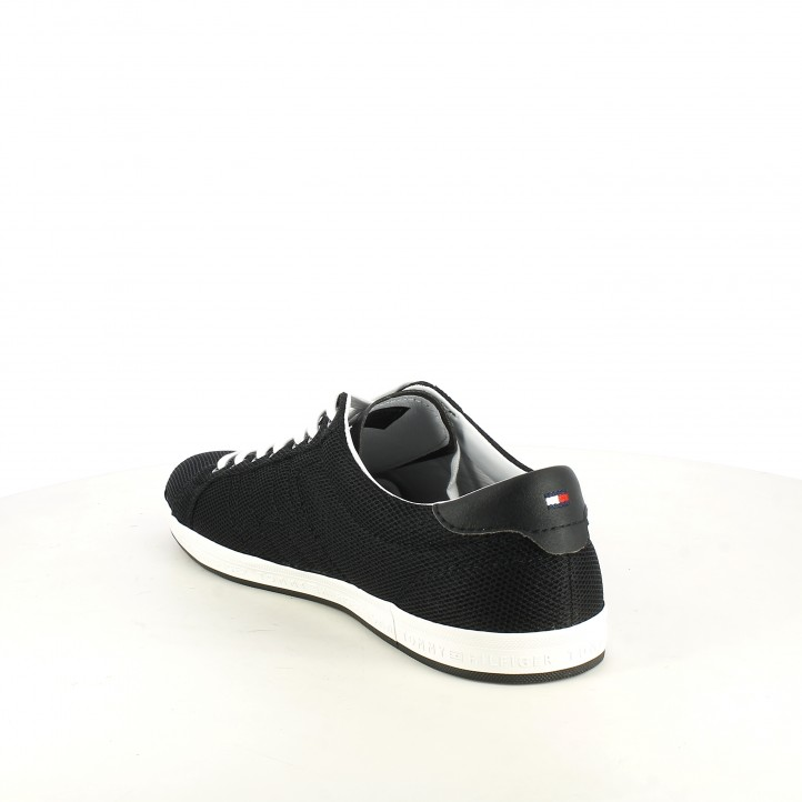 Zapatillas deportivas Tommy Hilfiger negras con bandera lateral - Querol online