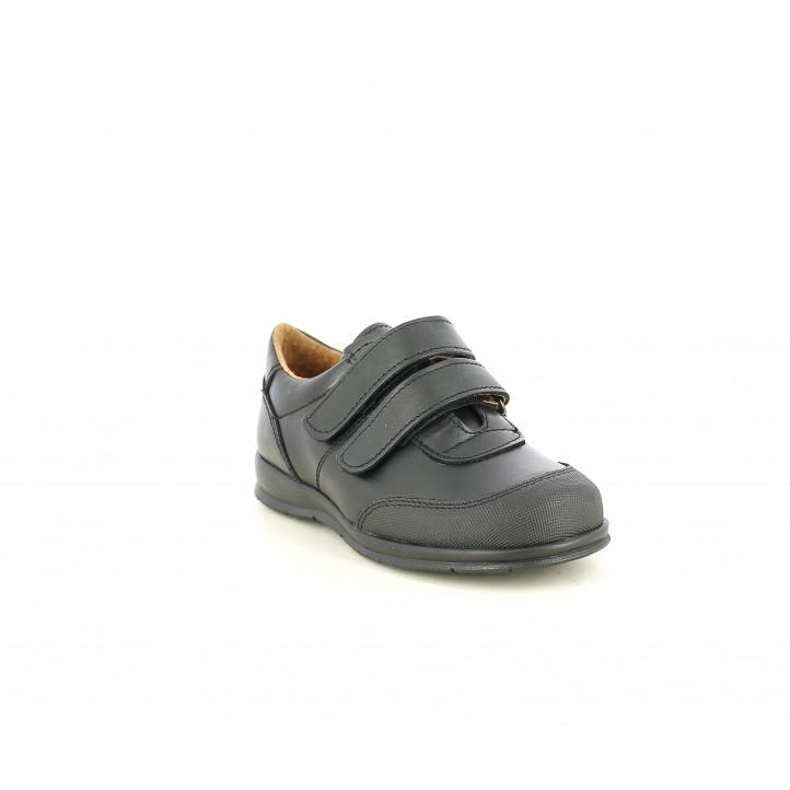 Zapatos QUETS! colegial con dos velcros y refuerzo en la puntera - Querol online