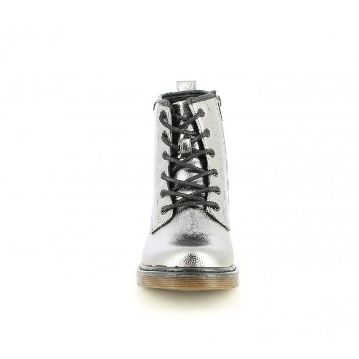 Botins XTI KIDS metal-litzat amb cremallera lateral i sola de goma - Querol online