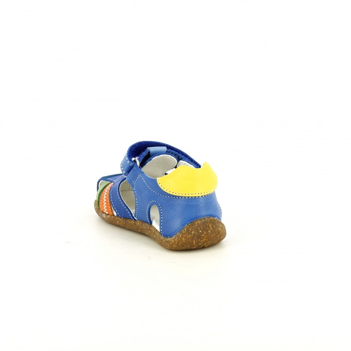 sandàlies Pablosky tancades blaves, taronges i verdes amb velcro - Querol online
