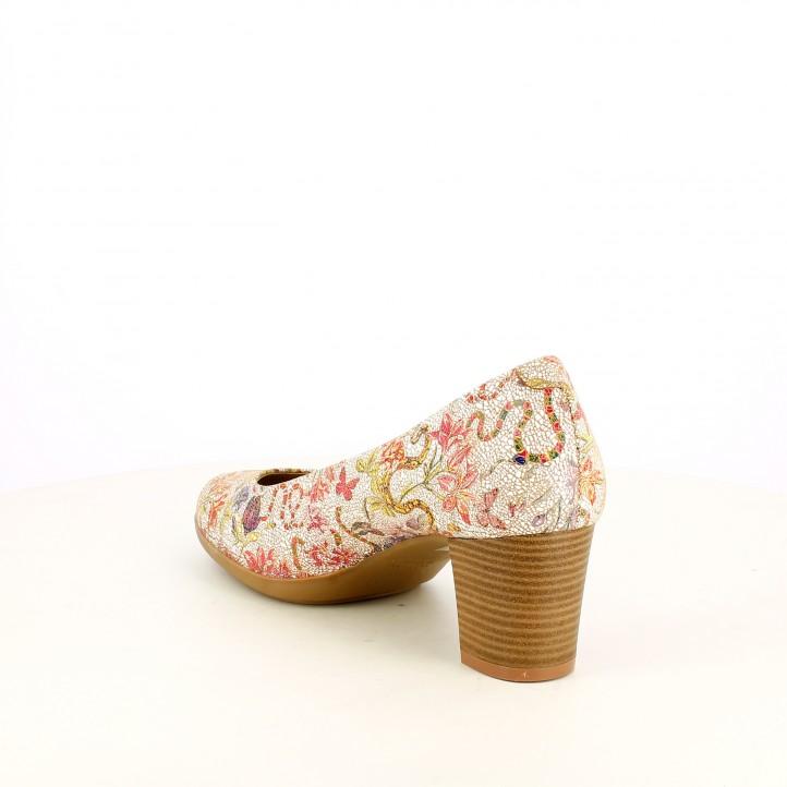 Sabates de taló Suite009 amb estampat de flors estil mosaic - Querol online