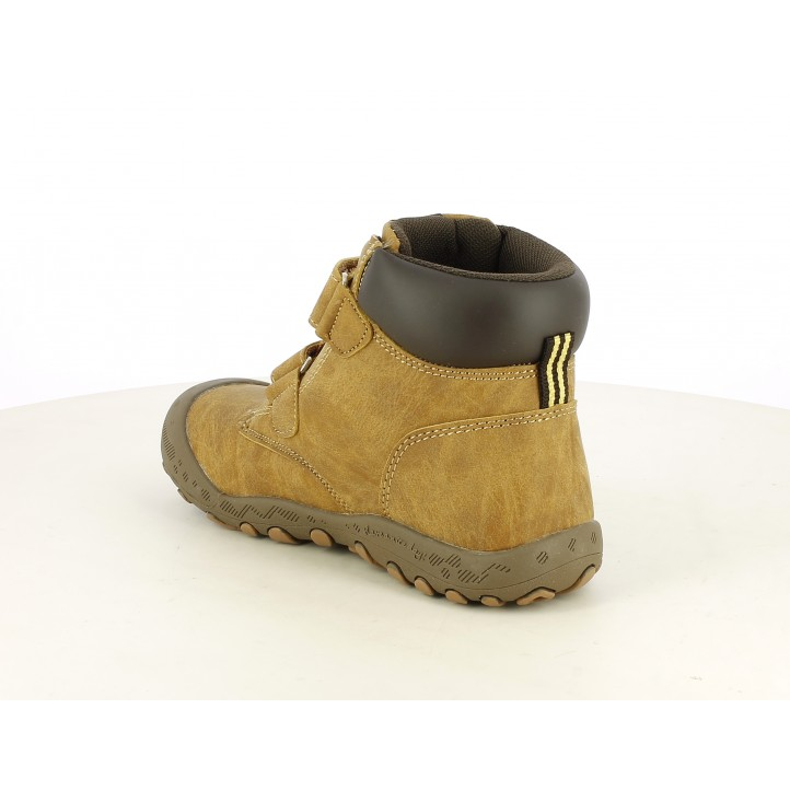 Zapatos Gioseppo marron con dos velcros y plantilla acolchada - Querol online