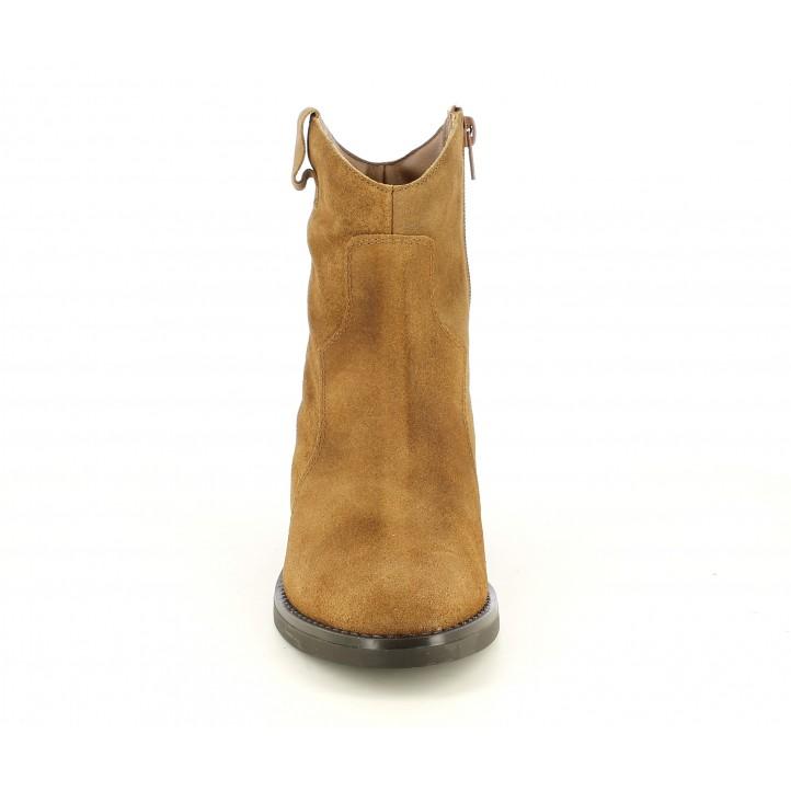 Botines Redlove marrón en serraje engradaso - Querol online
