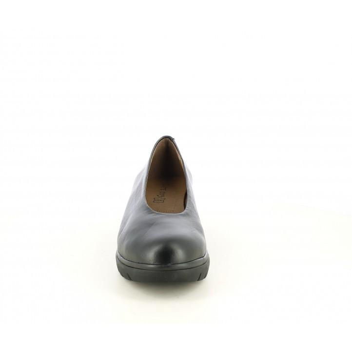 Cuñas Suite009 negras de cuña en piel - Querol online