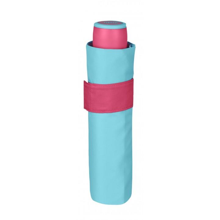 Complementos PERLETTI paraguas azul celeste y fucsia - Querol online