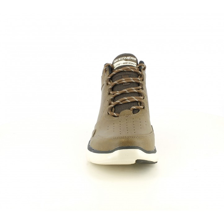Botins Skechers marrons de cordons amb plantilles memory foam - Querol online
