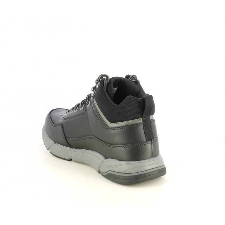 Botines Skechers negros con cordones y plantillas memory foam - Querol online