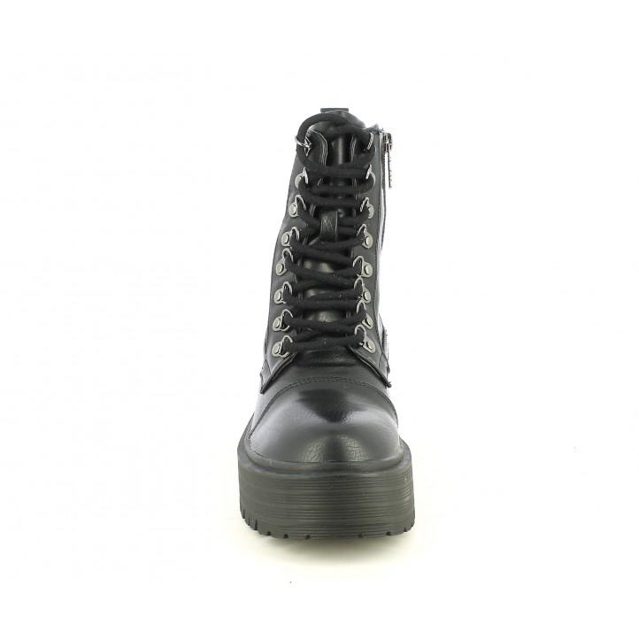 Botins Refresh negres amb cordons i plataforma - Querol online