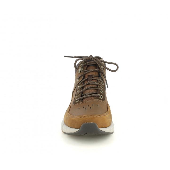 Botines Skechers marrones con cordones y plantillas memory foam - Querol online