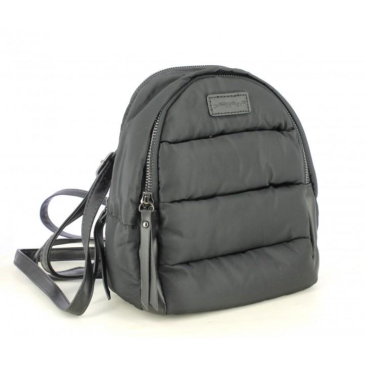 Complementos STAY mochila negra acolchada con doble bolsillo - Querol online