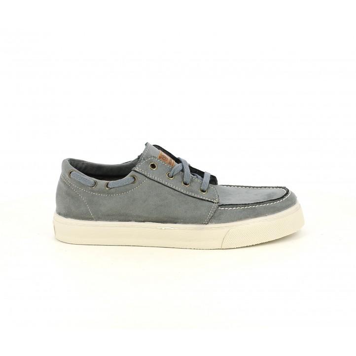 Zapatos sport SHOECOLOGY gris oscuro con cordones - Querol online