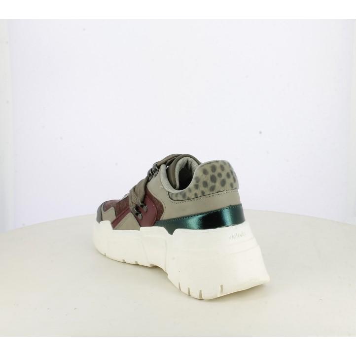 Sabatilles esportives Victoria combinació de diferents materials amb pèl de poltre sintètic - Querol online