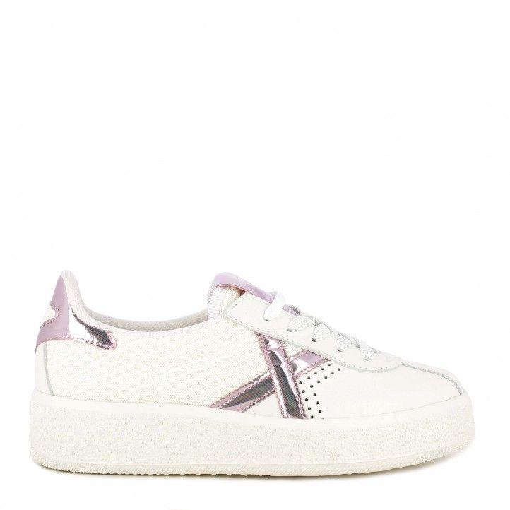 Zapatillas deportivas MUNICH blancas con cordones detalles brillantes barru sky 40 - Querol online