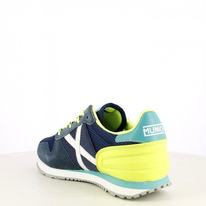 Zapatillas deportivas MUNICH verde con marron y naranja massana 363 - Querol online