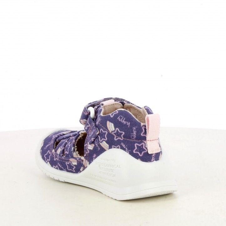 Sandàlies abotinades Biomecanics lila capdavantera reforçada sola flexible i plantilla de pell extraïble - Querol online