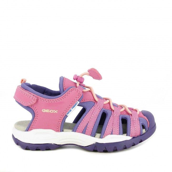 sandàlies Geox rosa amb lila transpirable i impermeable - Querol online
