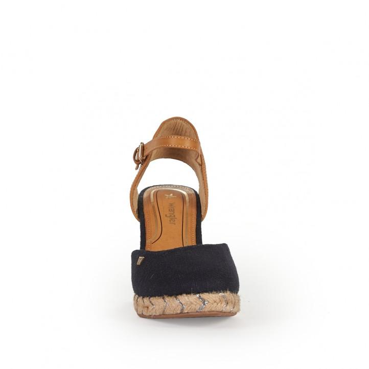 Sandalias cuña Wrangler jeans oscuro - Querol online