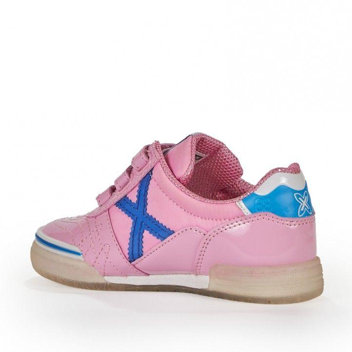 Zapatillas deporte Munich rosa con cordones g3 kid galaxy 1088 - Querol online
