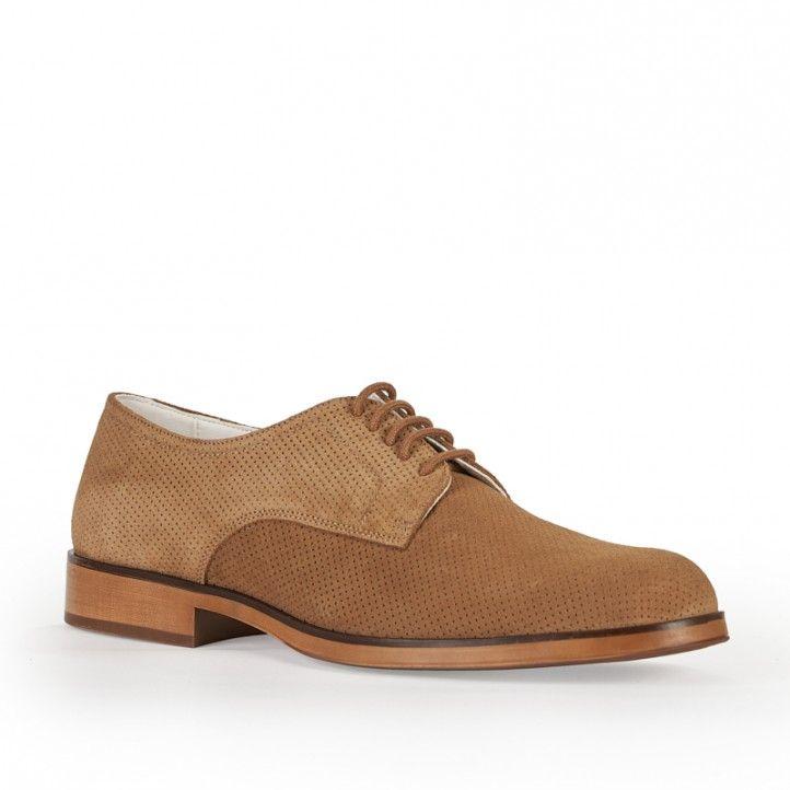 Zapatos vestir Be Cool marrón con cordones - Querol online
