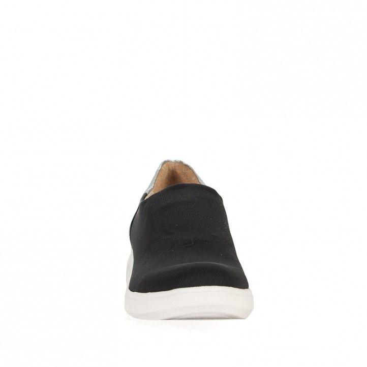 Zapatillas deportivas Redlove negras con talón plateado - Querol online