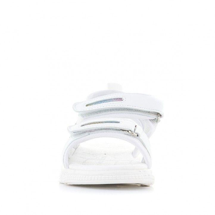 sandalias QUETS! blancas con detalles de colores - Querol online