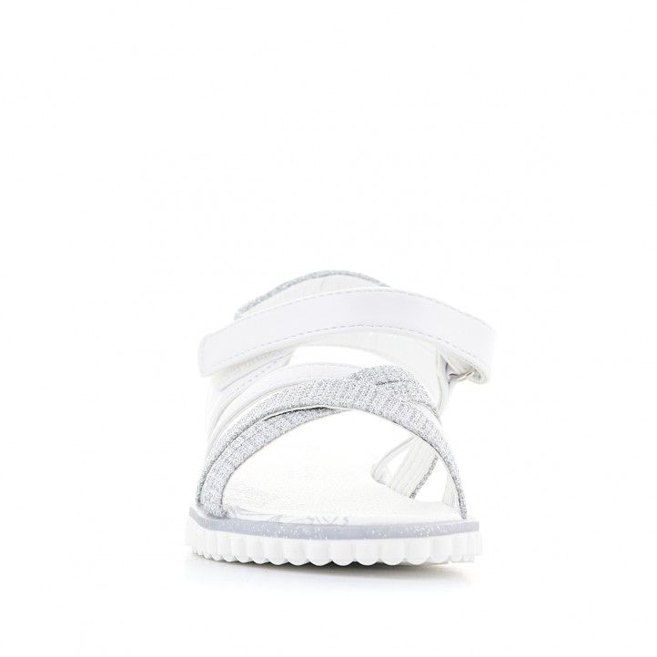 sandàlies QUETS! blanques amb detalls grisos - Querol online
