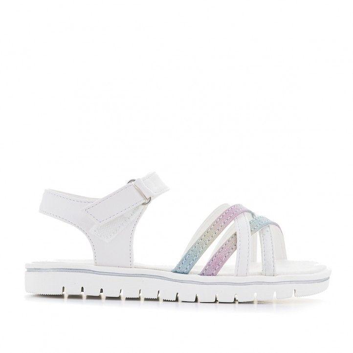 sandàlies Xti blanques amb detalls multicolor - Querol online