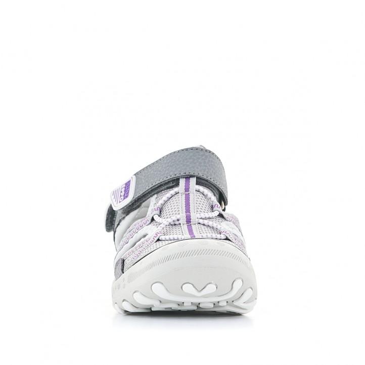 sandàlies Gioseppo grisos amb detalls en lila - Querol online
