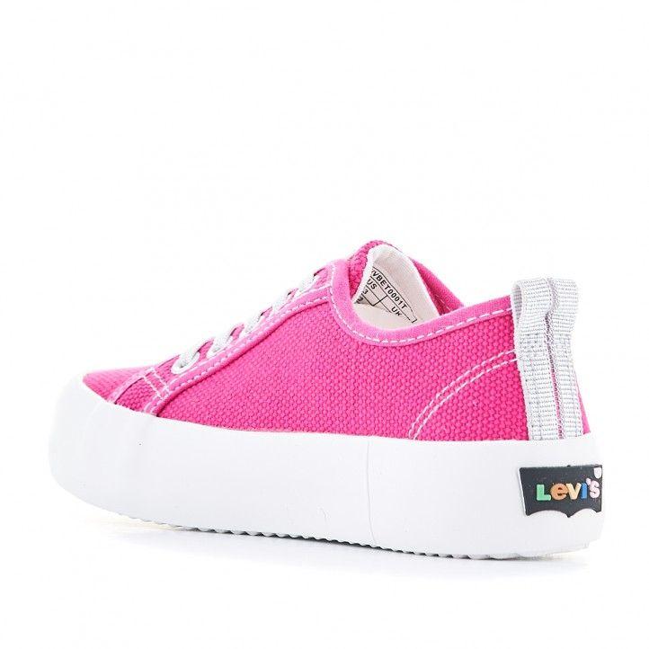 Zapatillas lona Levi's Kids rosas con suela blanca - Querol online