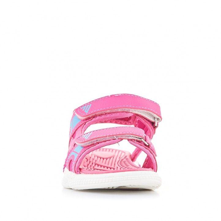 sandalias QUETS! rosa con detalles azules - Querol online