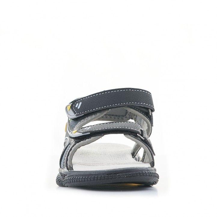 sandàlies QUETS! negres amb parts grogues - Querol online
