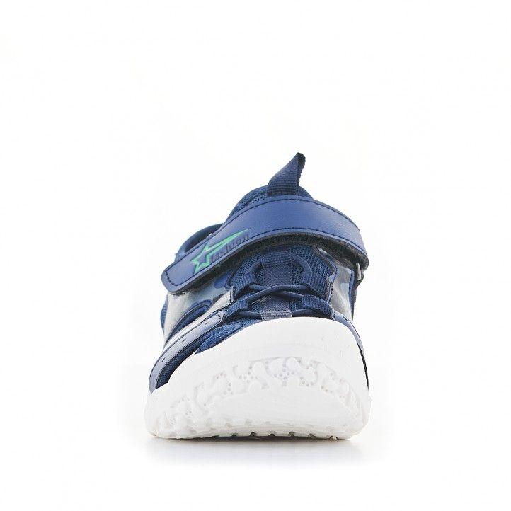 sandalias QUETS! azules con dibujo militar - Querol online