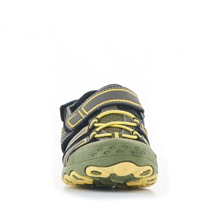 sandalias QUETS! verdes y detalles amarillos - Querol online