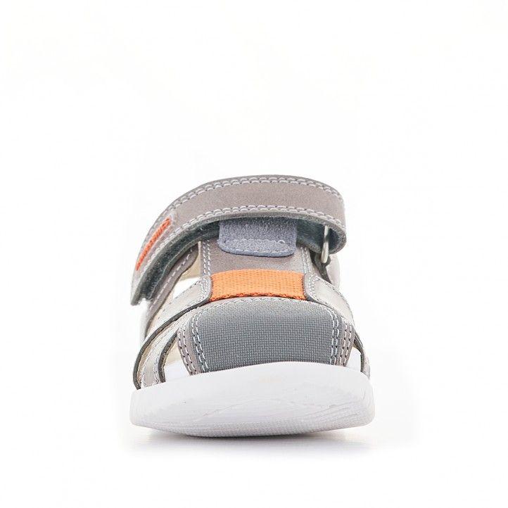 Sandalias abotinadas Biomecanics marrones y suela blanca - Querol online