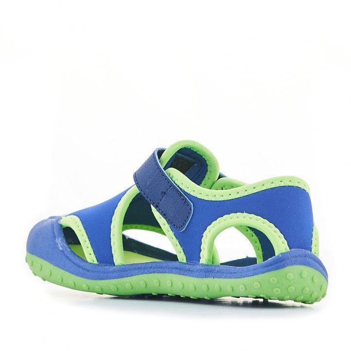 chanclas QUETS! azules y verdes de piscina - Querol online