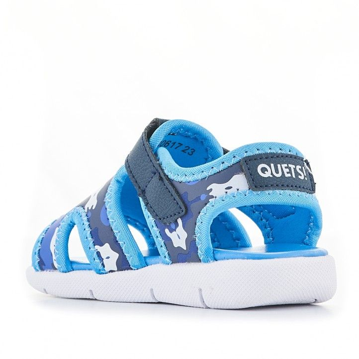 xancletes QUETS! blaves de piscina amb detalls militars - Querol online