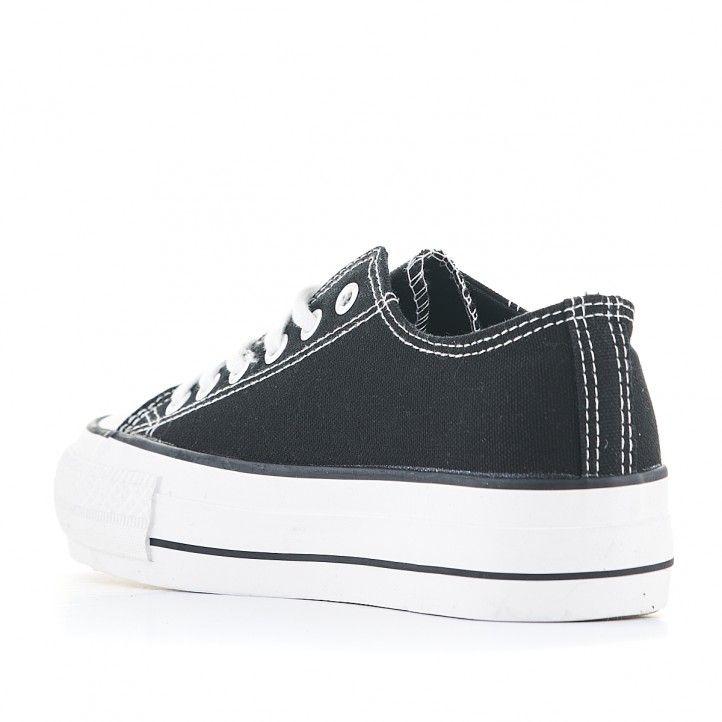 Zapatillas lona Owel negras con plataforma - Querol online