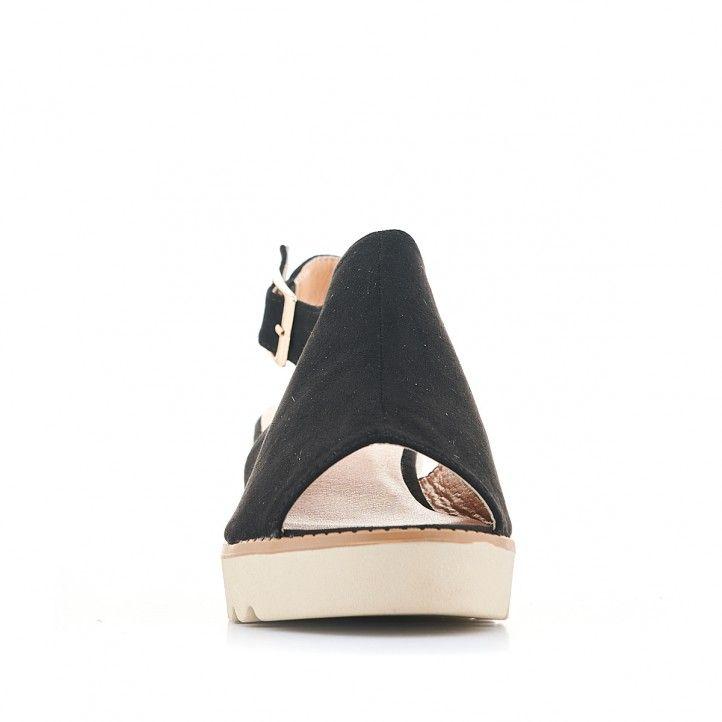 Sandàlies falca Owel negres amb empenya coberta - Querol online