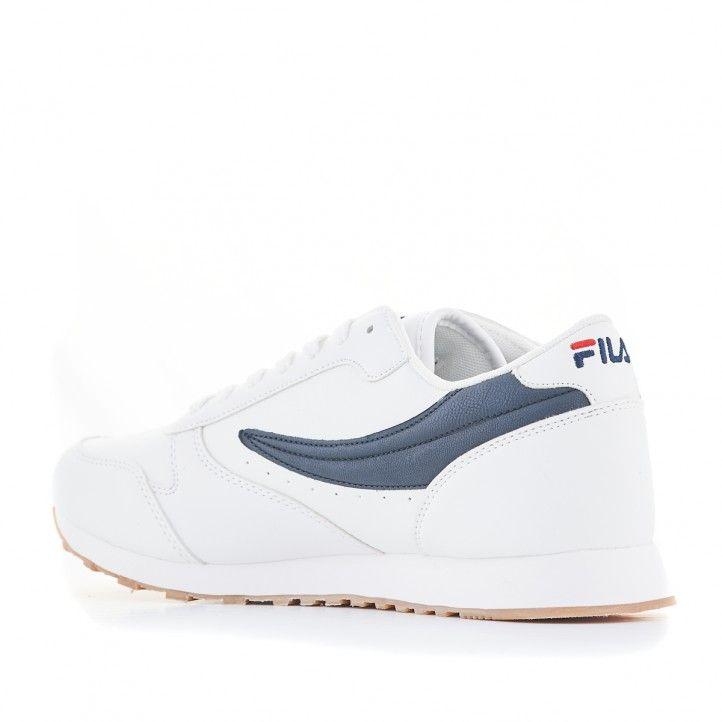 Zapatillas deportivas Fila Orbit low blanca y azul - Querol online