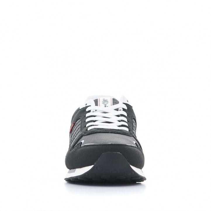 Sabatilles esportives Levi's negres amb cordons blancs - Querol online