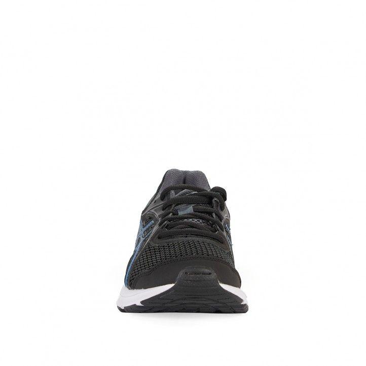 Zapatillas deporte Asics negras con detalle en azul - Querol online