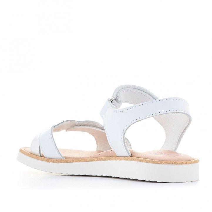 sandalias Pablosky blancas con trenzado en tira delantera - Querol online