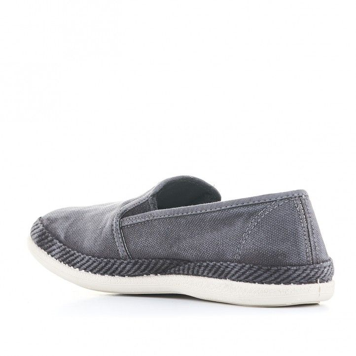 Zapatillas lona Lobo de color negro - Querol online